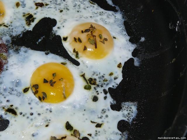 Receta de Verbena de huevos de codorniz a la plancha