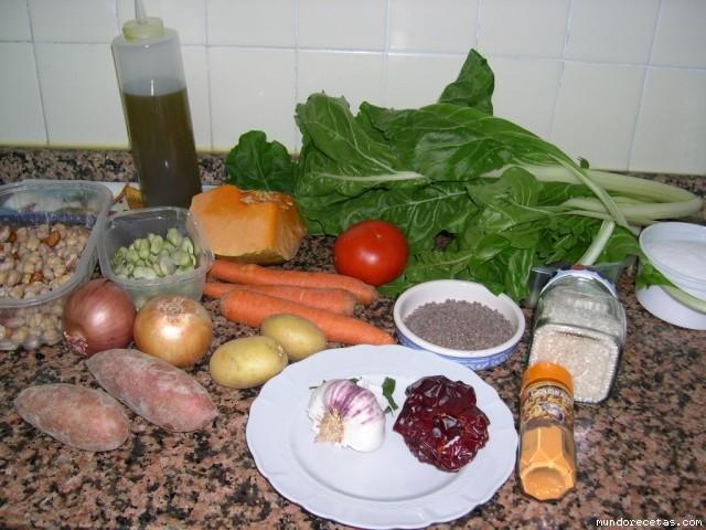 Receta de Arroz Caldoso con legumbres y verduras. FC