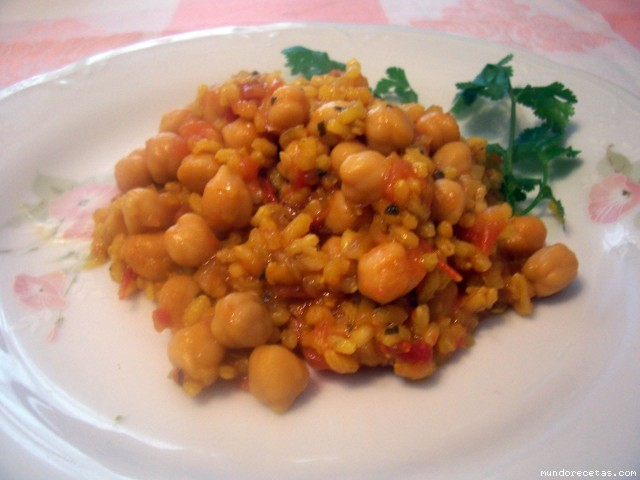 Arroz con garbanzos y hierbabuena - Potaje garbanzos con arroz ...