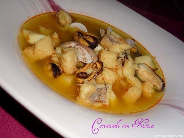 Sopa de marisco y pescado fussioncook - Sopa de marisco y pescado ...