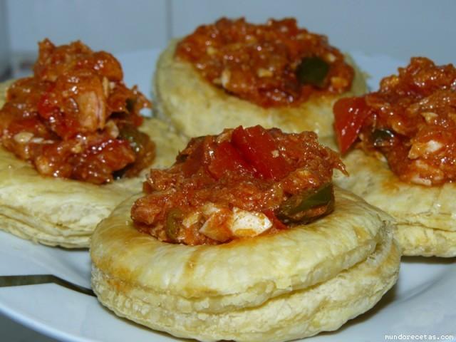 Receta de Volovanes rellenos de tomatada