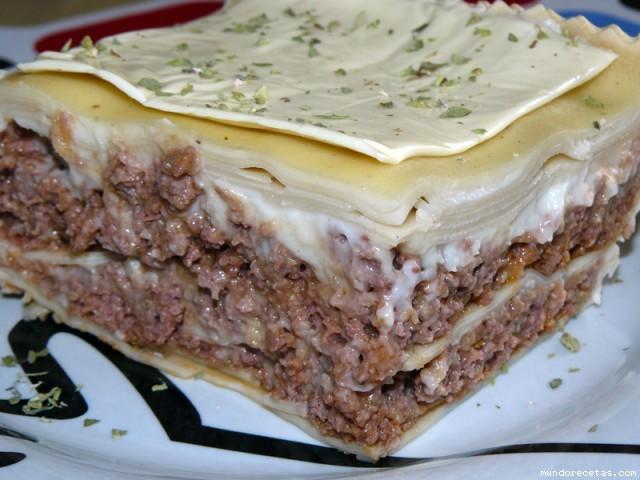 Receta de Lasaña de carne (Capisi)