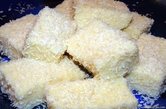 Receta de Cortaditos de coco