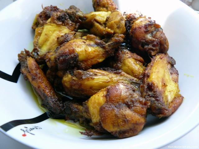 Receta de Aliño para carne (alitas, cerdo, pollo) en amarillo