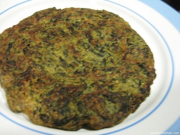 tortilla de acelga sin huevo receta