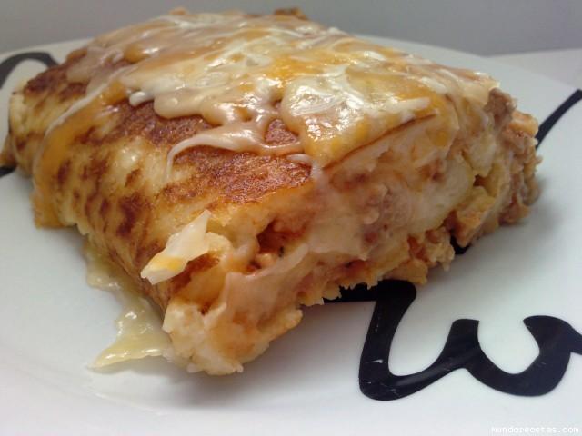 Receta de Brazo de patata a la boloñesa