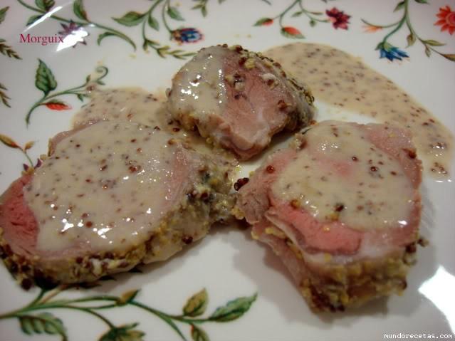 Solomillo de cerdo ib rico a la mostaza Solomillo iberico al horno