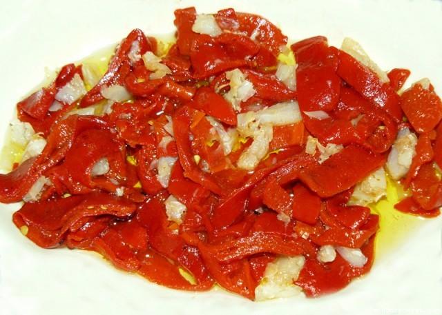 Receta de Ensalada de pimientos rojos (capisi)