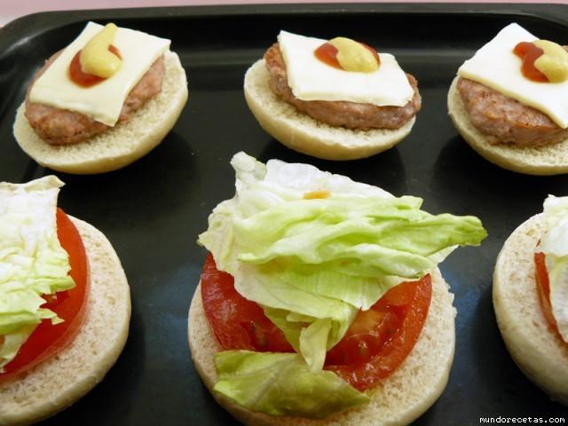 Receta de Mini-hamburguesas con mini-panecillos