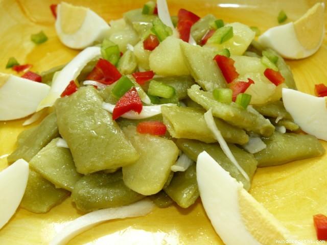 Ensaladilla de judias verdes patatas huevo cocido - Tiempo coccion judias verdes ...