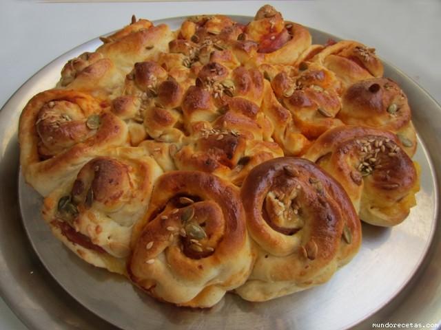 Pan flor brioche salado relleno - Profiteroles salados rellenos ...