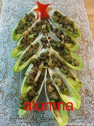 Ensalada de endivias decorada para navidad for Decoracion de ensaladas