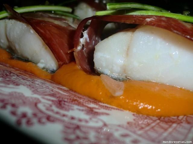 Bacalao confitado con salsa de salmorejo - Cocinar bacalao congelado ...