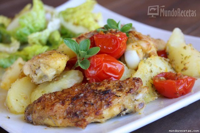 Pollo con patatas y tomates de jamie oliver cocina y for Cocina 5 ingredientes jamie oliver