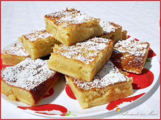 Baño Blanco Thermomix:Brownie de chocolate blanco con manzanas