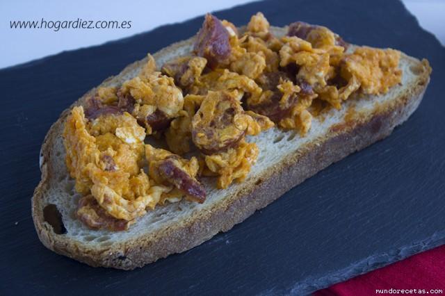 Huevos revueltos con chorizo chef o matic pro - Recetas cocina chef matic pro ...
