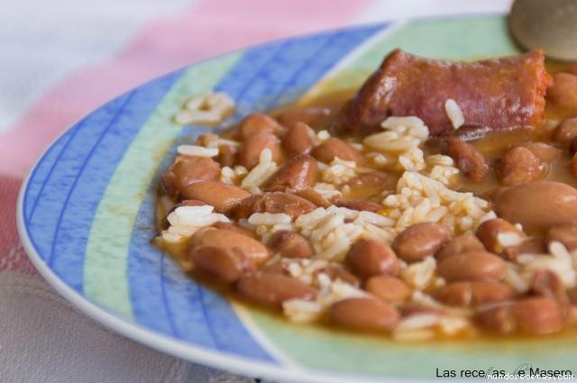 Jud as pintas con arroz recetas de cocina - Ensalada de judias pintas ...