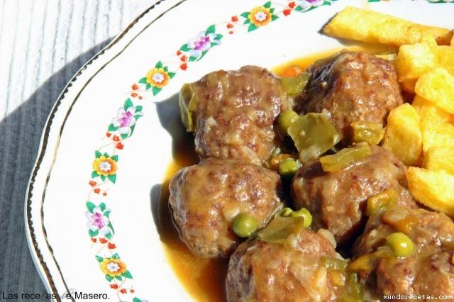 Alb ndigas en salsa de verduras recetas de cocina for Albondigas de verduras
