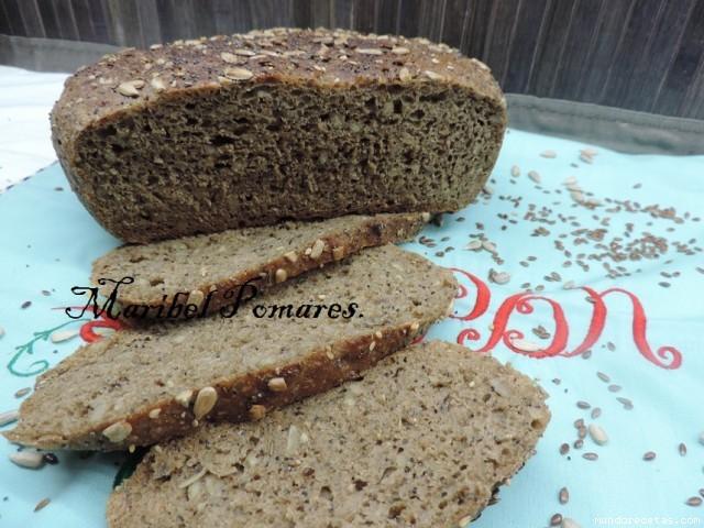 Receta de Pan integral de trigo y centeno con semillas de girasol. linaza, amapola y sésamo en (olla programable gm y thermomix)